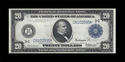 1914 Federal Reserve Note $20 **philadelphia** (( Ef ))