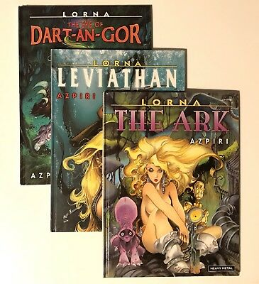 Set of 3: Lorna Hardback Graphic Novels - By Azpiri - Heavy Metal