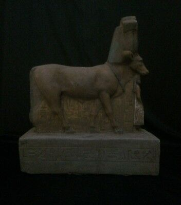 ANCIENT EGYPTIAN ANTIQUITIES Hathor as Cow Protecting Psamtik EGYPT 664–525 BC