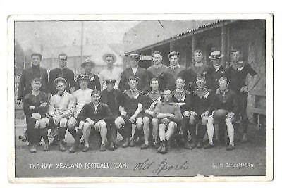 Rugby. New Zealand Football Team. Posted at London in 1907.