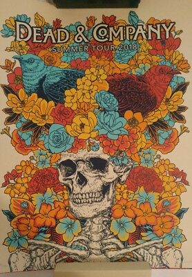 Dead And & Company 2018 Summer Tour VIP Official Poster Signed AP