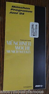 Vintage 1984 MUNICH WEEKLY Germany Entertainment Tourist Map Brochure Booklet