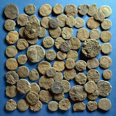 Lot of 80 Uncleaned Low Quality Roman Bronze Coins