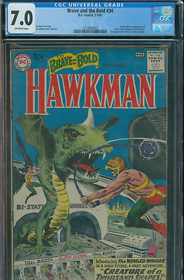 Brave and The Bold 34 CGC 7.0 1st Appearance of Hawkman. 1214890002