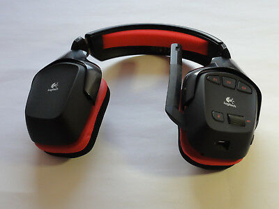 Logitech G930 Wireless Gaming Headset PC Dolby 7.1 Surround - ROT -