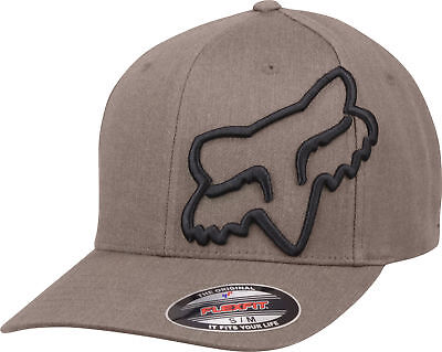 Fox Racing Mens Clouded Flexfit Hat - Bark