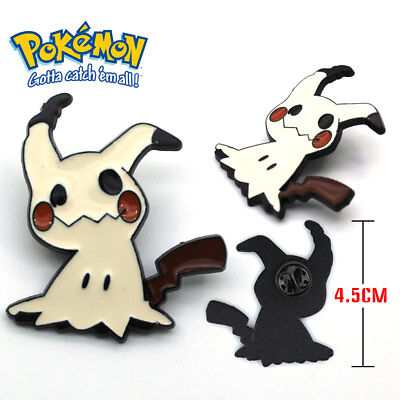Pocket Monster Pokemon Mimikyu Metal Badge Pin Button Brooch Chest Cosplay Gift
