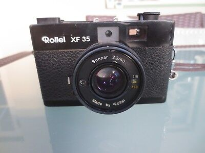 Vintage Rollei XF35 Compact 35mm Camera With Sonnar Lens