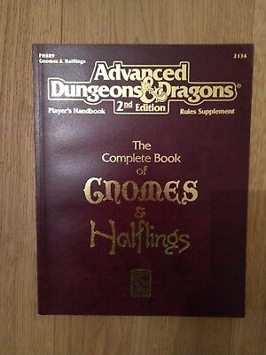 AD&D Advanced Dungeons & Dragons 2nd Edition Complete Book of Gnomes & Halflings
