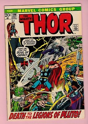 """The Mighty Thor #199 """"Death to the Legions of Pluto!"""" 9.2 NM- Condition!!"""