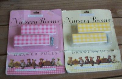 Anne Geddes Nursery Rooms~2 Packages Drawer Pulls~Pink & Yellow~New in Package