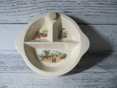 Vintage Excello Baby Warming Dish  Marked Sept 1947 Mexican Sombrero Pictures