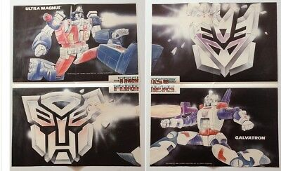 Marvel's The Transformers comic UK  posters Ultra Magnus and Galvatron 1980's