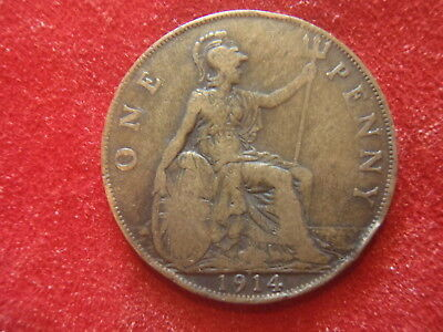 British Large Penny - 1914 - Nice Condition - 104 Years Old - World War I - Look