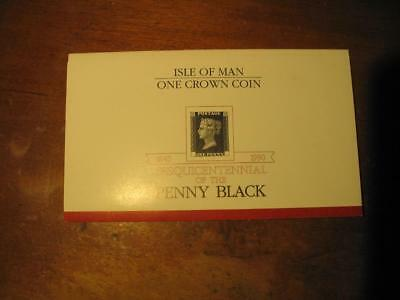 Penny Black- Isle of Man One Crown Coin