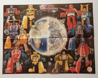 Presented Free with Marvel's The Transformers UK pull out poster Minibots 1980's