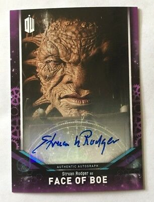 2018 Topps Doctor Who Signature Series Struan Rodger As Face Of Boe Autograph