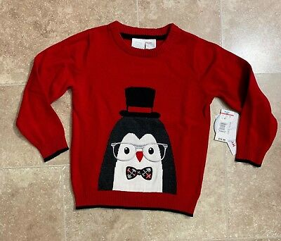 NWT Kids Christmas sweater size 4T  Penguin