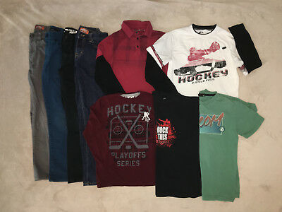 9 Piece Lot Boys Clothing Size 8/10 & 10 Winter Fall
