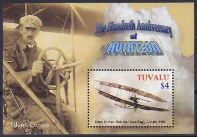 Tuvalu Block 100 (1108) **, Orville & Wilbur Wright - Glenn Curtiss