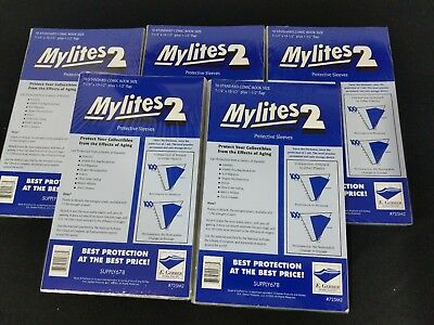 250 E. Gerber Mylites 2 Mil Mylar Standard - Bronze Age Comic Book Sleeves 725M2