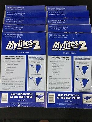 500 E. Gerber Mylites 2 Mil Mylar Standard - Bronze Age Comic Book Sleeves 725M2