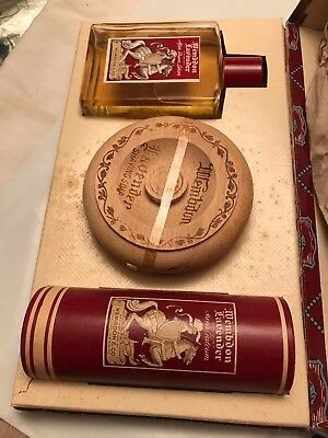 Vintage House Of Wembdon Lavender Shaving Set After Shave Soap Talc Box Rare Htf