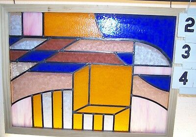 Newly Made In England...leaded Stained Glass Window.. Modern Full Of Color