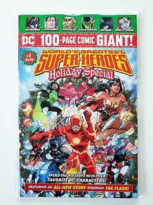 Worlds Greatest Super-Heroes Holiday Special #1 NM ❄️ DC 100 Page Giant Walmart