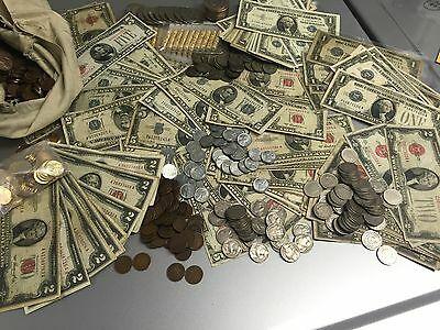 Lot(Of 9)U.s.old $1/$2/$5 Red/Blue Seal Currency Notes+1928-1963 Estate++More++