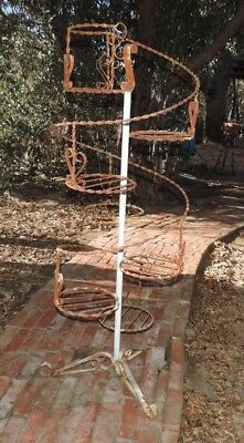 Vintage Wrought Iron Plant Stand 7 Tiers