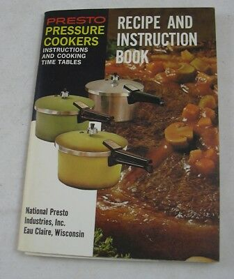 Presto Pressure Cooker Instruction & Recipe Booklet 1974 Vintage Wisconsin