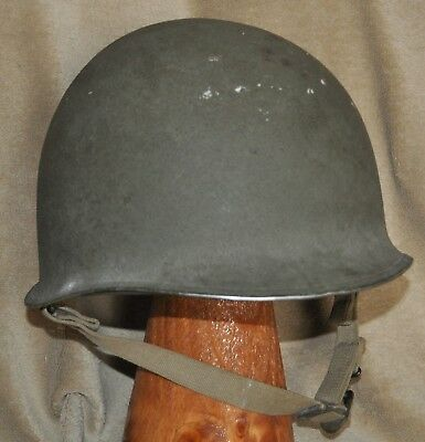 WWII Front Seam/Fixed Bale M-1 Helmet & Liner Set