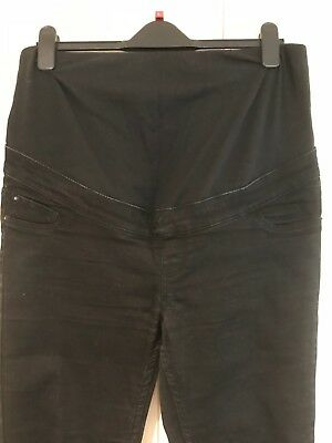 New Look Maternity Over the Bump Black Jeggings/ Skinny Jeans. Size 14.