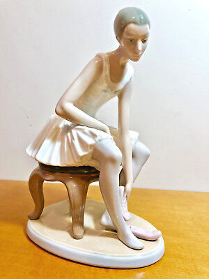 """Nao by Lladro Seated Ballet Dancer Figurine """"Joy""""  # 02000387"""