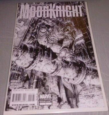 VENGEANCE OF THE MOON KNIGHT #1 2nd Printing FINCH SKETCH VARIANT COVER NM NM-