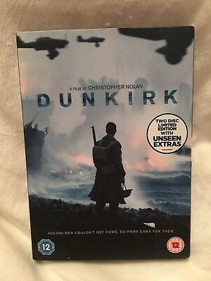 dunkirk dvd two disc christopher nolan v good condition