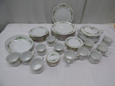CREATIVE MANOR FINE CHINA SET 9169 GARLANDS OF GLORY MADE IN JAPAN VGC Lot of 42