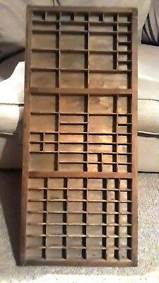 Antique wooden Printer's drawer/tray for display.