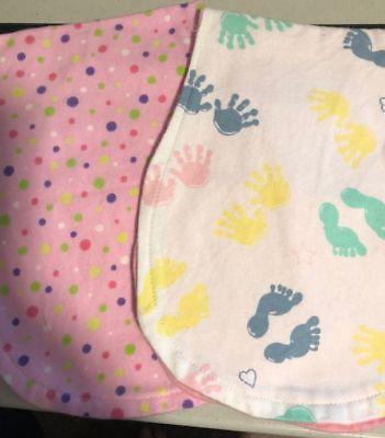 Handmade Burp Cloths Girls Designs cute