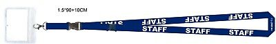 250 x Staff Lanyards with plastic id windows