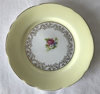 Vintage BCB Pottery Coronet China England 17cm Dia Plate with Wild Roses Design