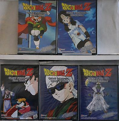 Dragon Ball Z Series Complete Great Saiyaman Saga 5 DVD Set New Uncut Unedited