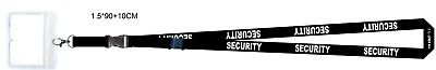 250 x Security Lanyards with plastic id windows
