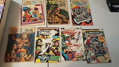 comic book lot amazing spiderman 113 john carter of mars 2 indian chief and more