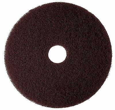 "3M Brown Stripper Pad 7100, 15"" Floor Stripper Pad (Case of 5)"