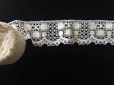 """Antique Lace Yardage From France 5 Yards And 10"""" / 2 1/8"""" High"""