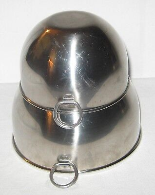 Vintage Revere Ware Stainless Steel Nesting Mixing Bowls***2 Qt. And 1 Qt.***