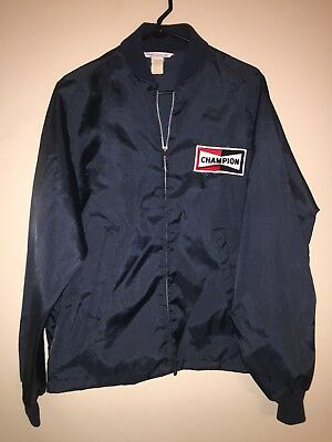 VTG Vintage 60s 70s CHAMPION SPARK PLUGS Official Racing Apparel JACKET L RARE!!