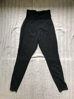 Old Navy maternity leggings, full belly panel, size M, charcoal heather grey